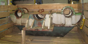 Repair of a propulsion gearbox after cracked casing