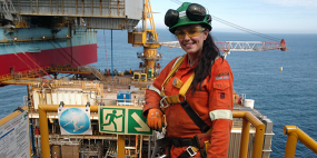 Stork's first female scaffolder undertakes her inaugural trip offshore