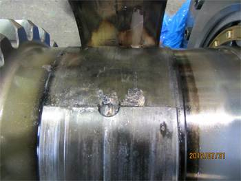 Visual inspection Wartsila gearbox casing