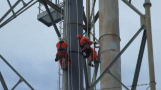 Rope Access reduces costs flare modification by 33%
