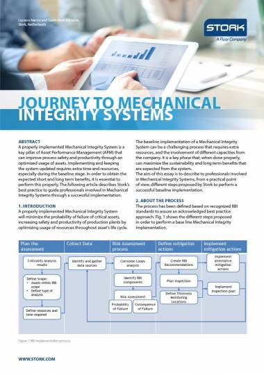 Whitepaper: Journey to mechanical integrity systems