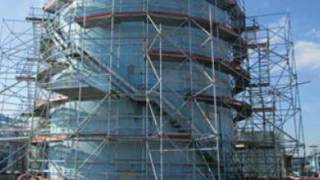 Wedge type scaffolding system