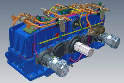 3d design custom built dredger gearbox