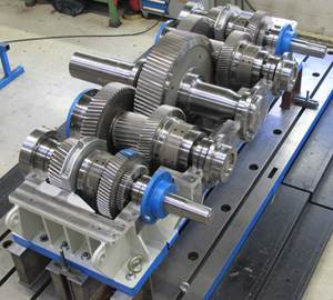 finished custom built gearbox for dredger