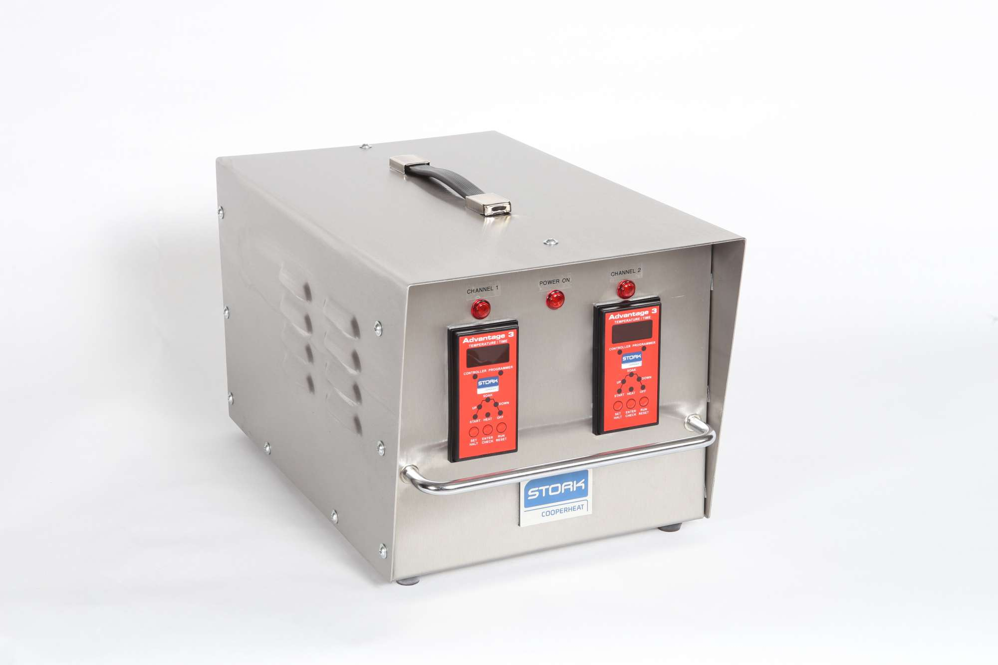 Image of Twin heat module in Stainless Steel case, with two Advantage 3 programmer/controllers