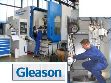 Gleason equipment at gear cutting department